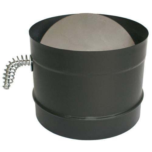 "DuraVent 6DBK-DS 6"" Inner Diameter - DuraBlack Stove Pipe - Single Wall - Damper"