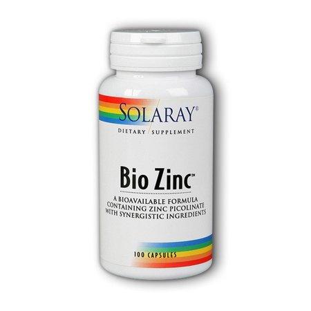 - Solaray Bio Zinc 15 mg Capsules, 100 Ct