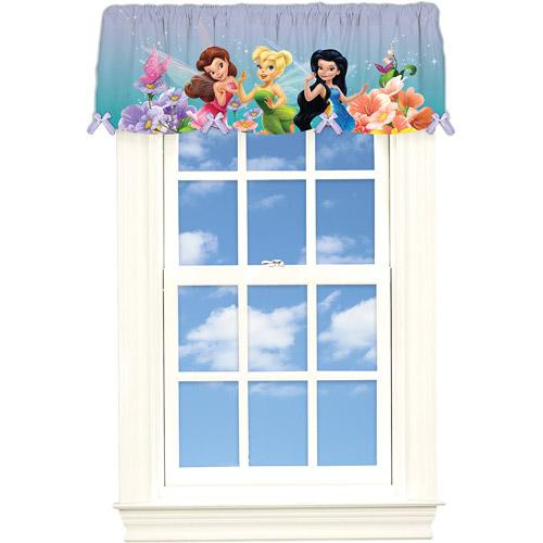 "Disney Fairies ""Dew Drops and Sparkles"" Poly Satin Valance"