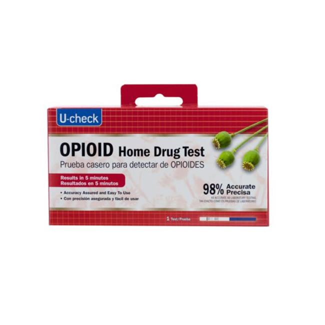 Kole Imports GH616-24 U-Check Opioid Home Drug Test - Pack of 24