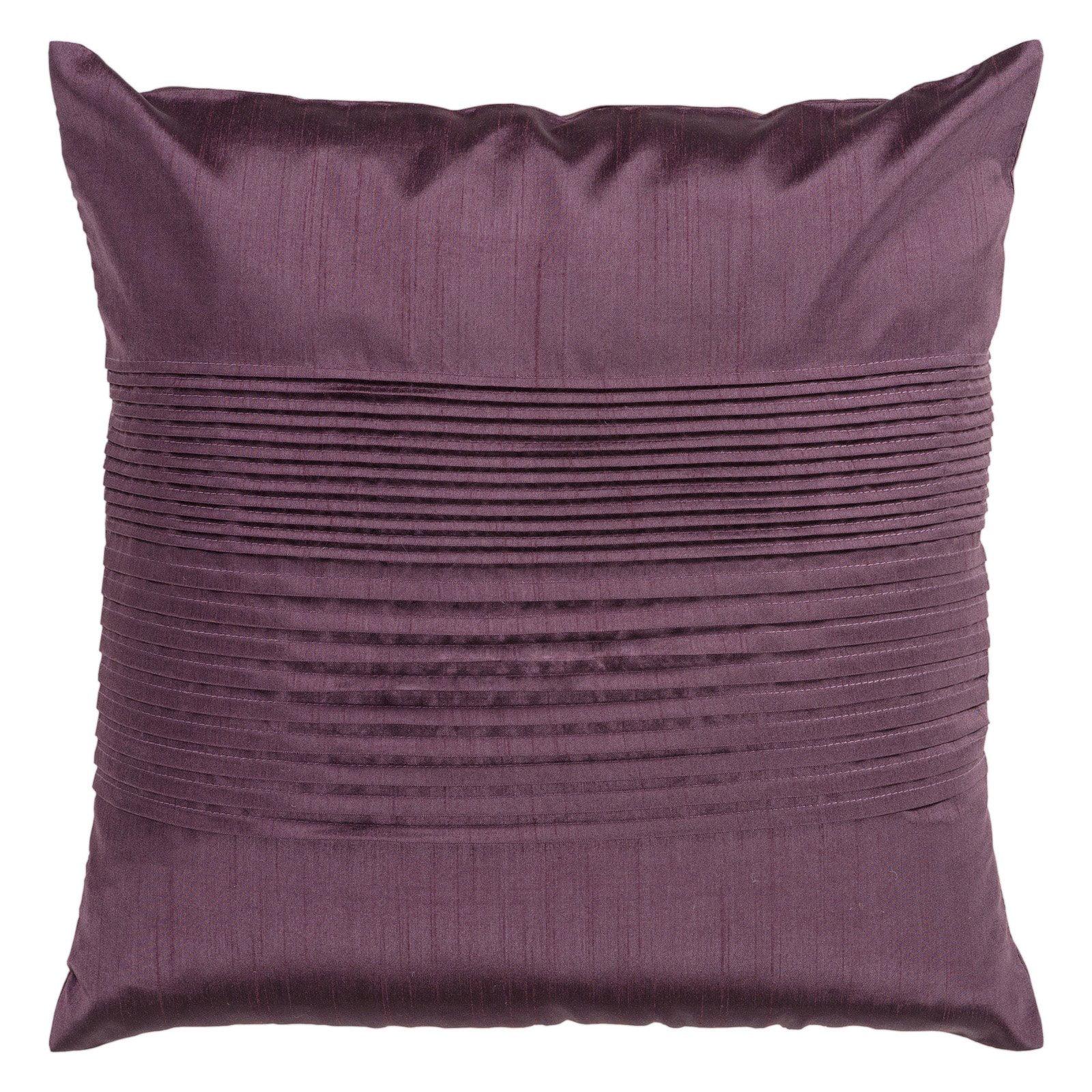 Surya Tracks Decorative Pillow - Plum