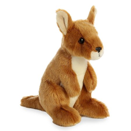 Kangaroo Mini Flopsie 8 Inch - stuffed Animal by Aurora Plush (Kangaroo Plush Toy)