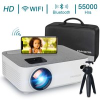"FANGOR Native 720P Projector, WiFi Bluetooth Projector with 200"" Projection Size, Ideal for Home Theater"