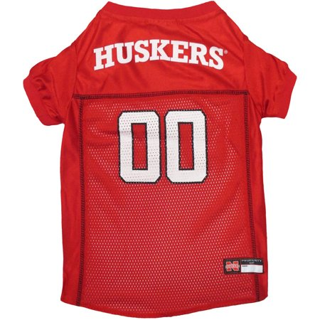 - Pets First College Nebraska Huskers Collegiate Dog Jersey, Available in Various Sizes