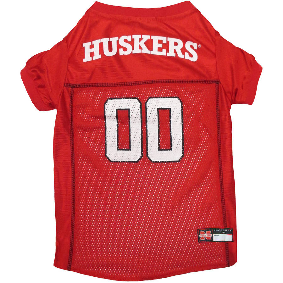 Pets First College Nebraska Huskers Collegiate Dog Jersey, Available in Various Sizes