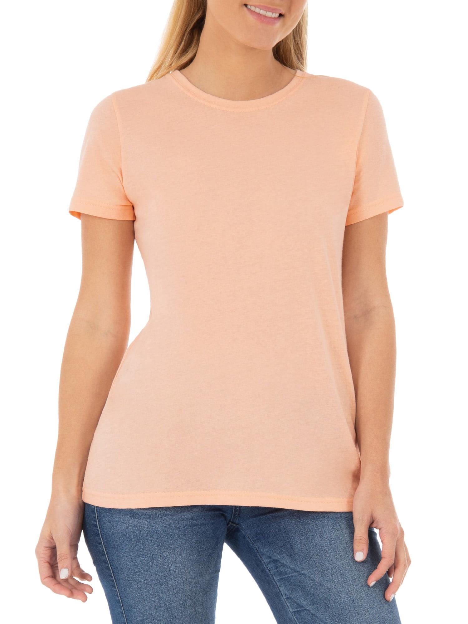 Women's Essential Short Sleeve Crewneck T-Shirt, 2 Pk Bundle