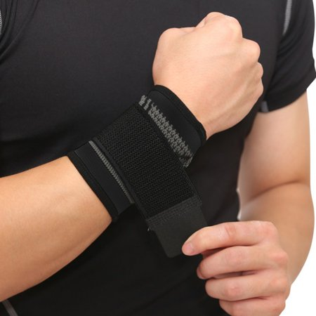 1 Pair/2pcs Wrist Support Nylon Spandex Latex Forearm Wrap Belt Hand Strap Protector Gym Fitness Weight Lifting Sportswear