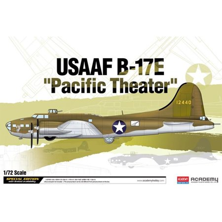 Academy 12533 B-17E Flying Fortress USAAF 'Pacific Theater' 1/72 Scale Model (Flying Fortress Model Airplane)