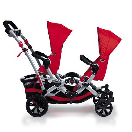 Contours - Option Tandem Stroller by Kolcraft, Ruby - Walmart.com