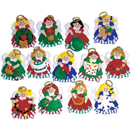 Tobin Ornaments Felt Applique Kit, 13/pkg