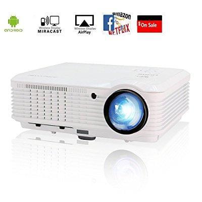 video projector wireless wifi 3600 lumen support 1080p fu...