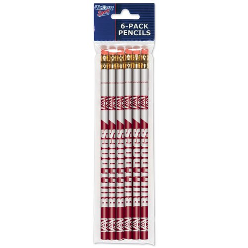 American Logo Products Alabama A&M Bulldogs Pencils, 6 Pack