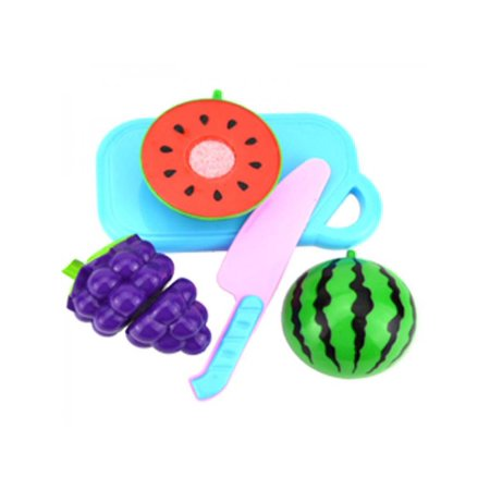 Ropalia 4-18pcs Pretend Role Play Kitchen Fruit Vegetable Food Toy Cutting Toys Kids Playset Cosplay