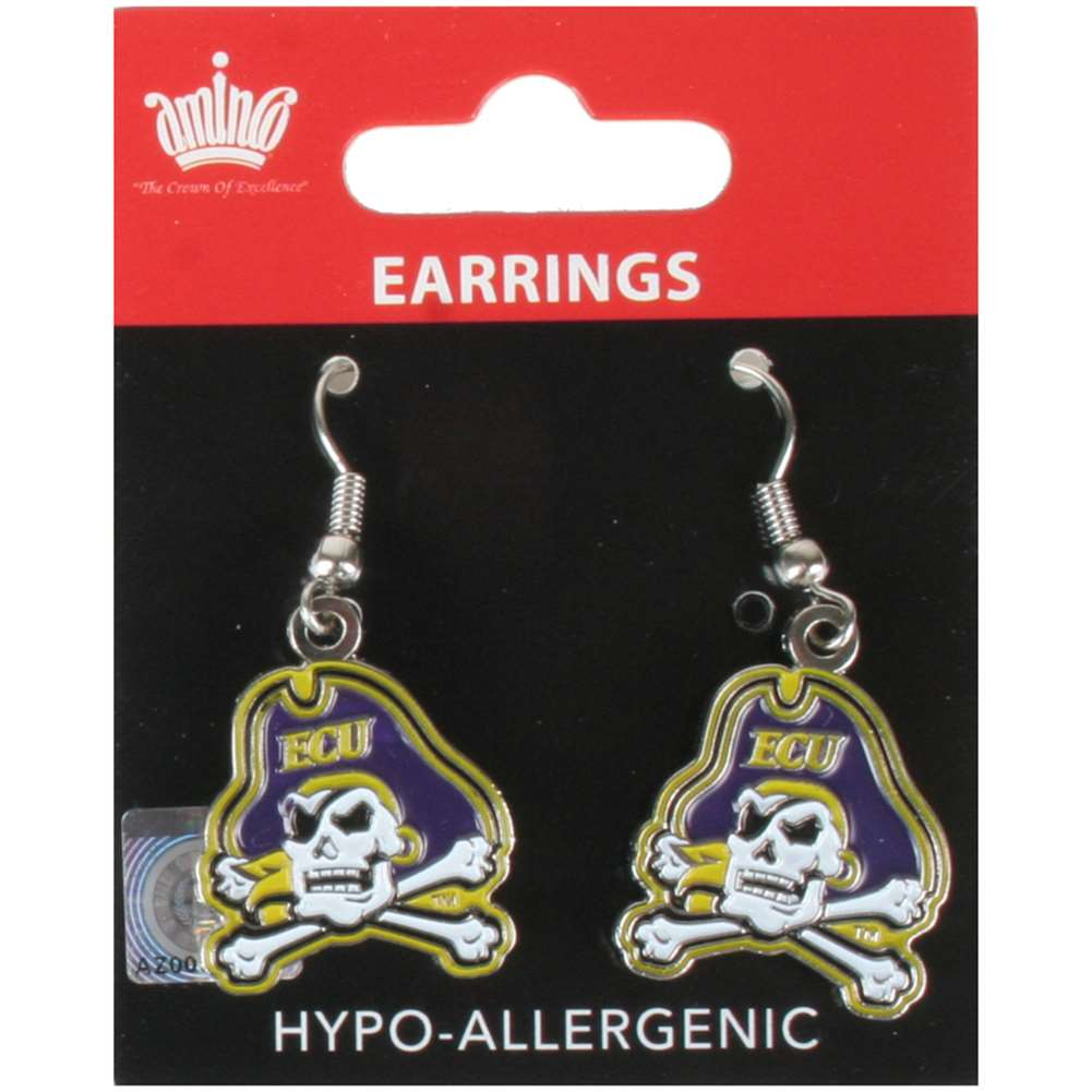 East Carolina Pirates Dangler Earrings