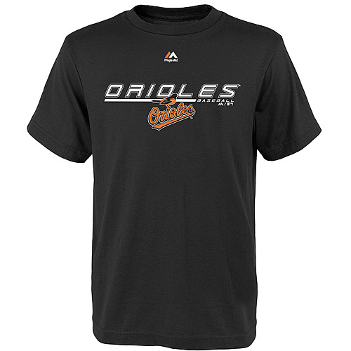 Youth Majestic Black Baltimore Orioles Aggressive Feel T-Shirt
