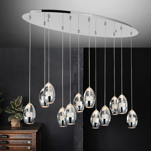 CWI Lighting Perrier 12-Light Kitchen Island Pendant