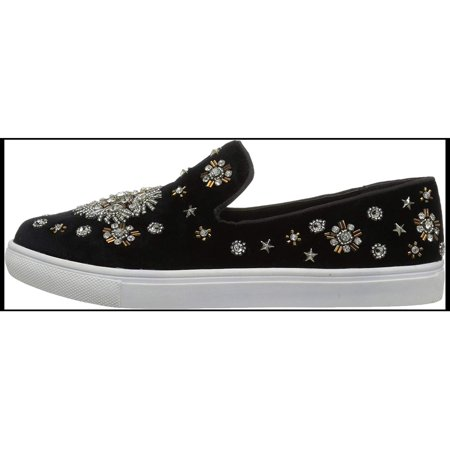 Naughty Monkey Womens Andromeda Fabric Low Top Slip On Fashion Sneakers