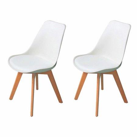 Corrigan studio guildford mid century upholstered dining chair set of 2 - Sedia tulip star ...