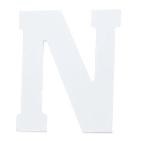 Letter Set Helvetica Font - Courier Font White Color Wooden Letter N (6 Inches)