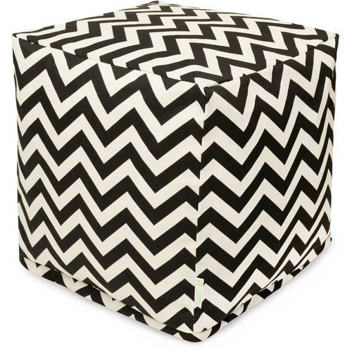 Majestic Home Goods Chevron Bean Bag Cube, Indoor/Outdoor