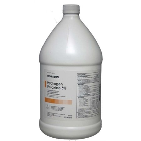 Hydrogen Peroxide 3% Solution, 1 Gallon Bottle, McKesson -