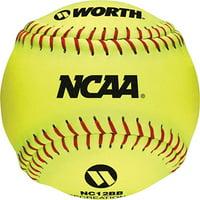 "(4 Pack) Worth 12"" Yellow Practice Slowpitch Softballs"