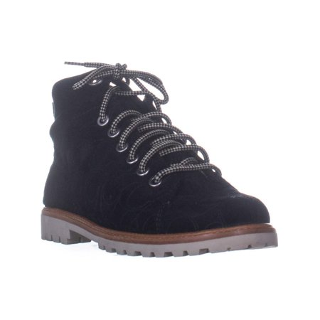 Womens Coach Ester Embossed High Top Sneakers, Black/Black Emossed Suede, 7.5 US / 38 EU ()