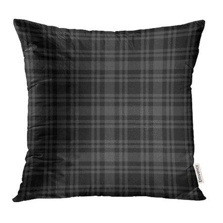 ARHOME Abstract Classic Plaid Pattern Design Simple Black British Check Checkered Color Pillow Case Pillow Cover 16x16 inch Throw Pillow (Classic Business Check Pattern)