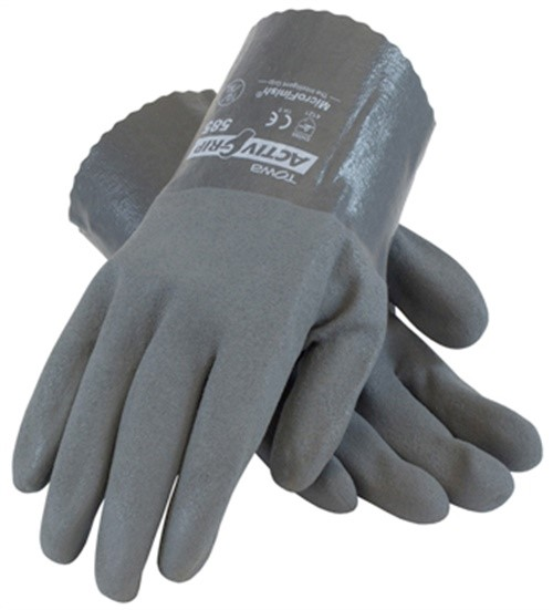 Part 56-Ag585Xl Nitrile With Microfinish Grip Gloves, by Pip Glove, Single Item,
