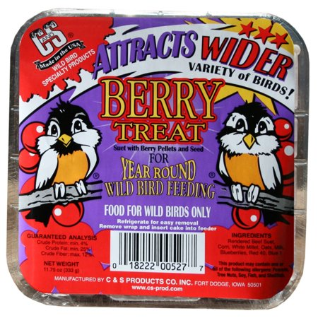 C&S Suet Berry Treat Berry Blend Suet Cake