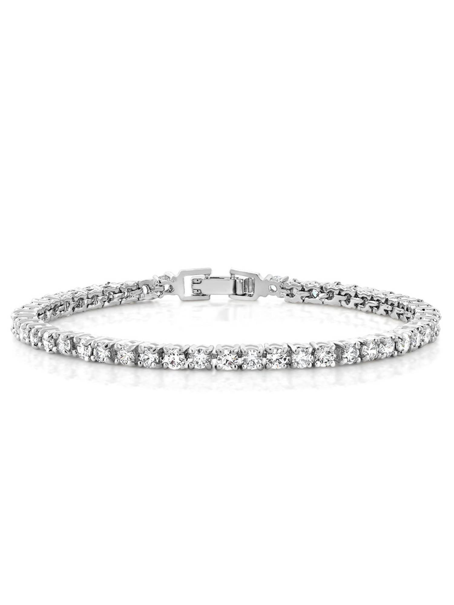 "10.00 Ct Round Cut Stunning Cubic Zirconia CZ 7"" Tennis Bracelet 7 Inch"