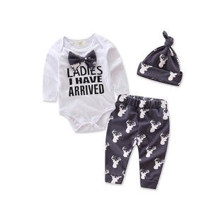 Borg Outfit (New Born Babies Printed Three Piece Outfit)