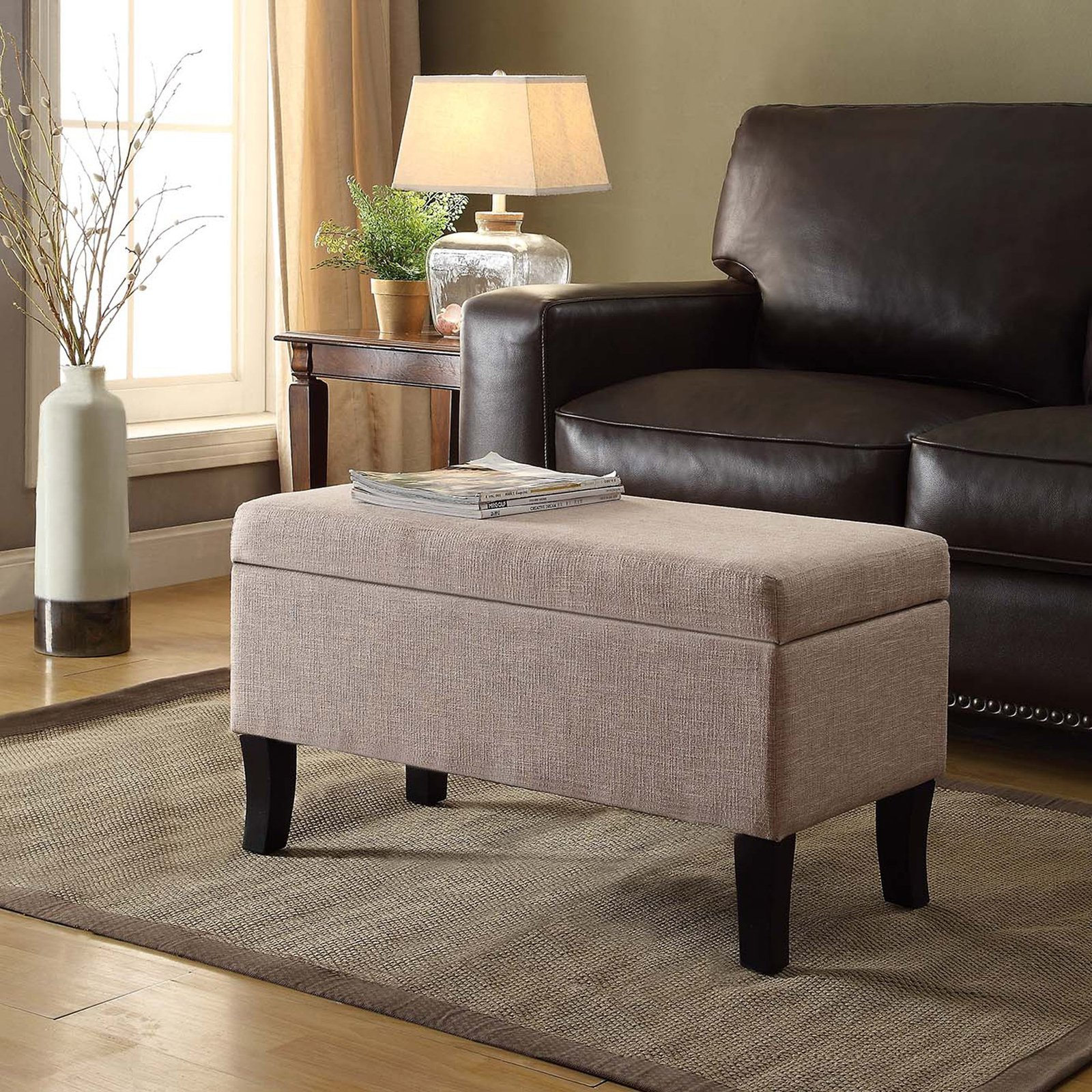 Convenience Concepts Designs4Comfort Winslow Storage Ottoman, Multiple Colors