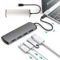 EEEkit USB C Hub Ultra Slim USB C Adapter with 4 USB 3.0 Ports for MacBook Pro 2018 2017 iMac, Google Chromebook Pixelbook, XPS, Samsung S9, S8 & More USB Type C Devices