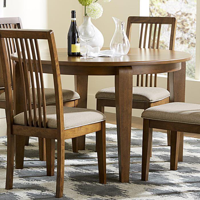 Progressive Furniture Mid-Mod Round Dining Table in Cinnamon by Progressive Furniture Inc