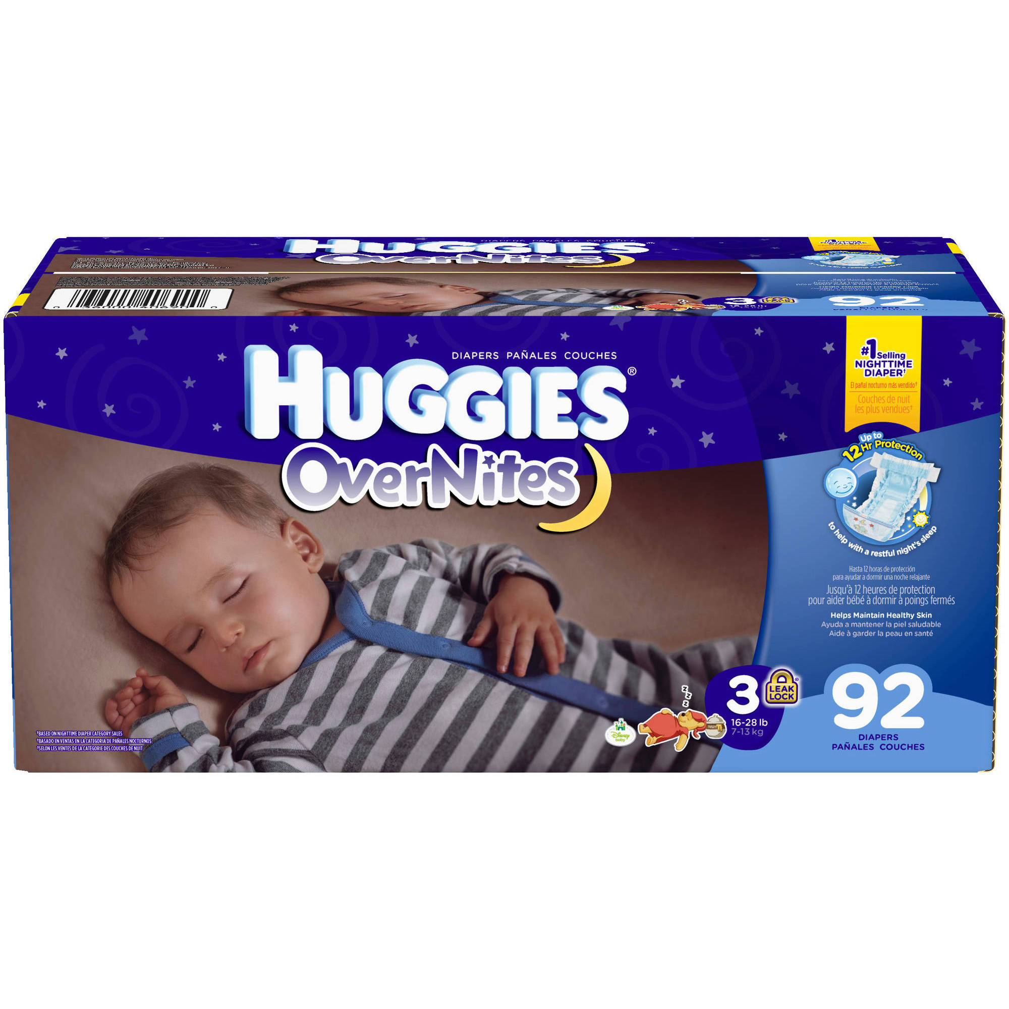 HUGGIES OverNites Diapers, Size 3 (Choose Diaper Count)