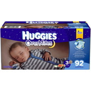 HUGGIES OverNites Diapers, Super Pack  (Choose Your Size)