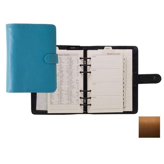 Raika SF 201 TAN Six Ring Planner Wallet Agenda - Tan