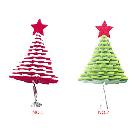 babydream1 Christmas Flannel Door Hanging Decor Star Xmas Tree Bell Metal Pendant Ceiling Decorations - image 7 of 9