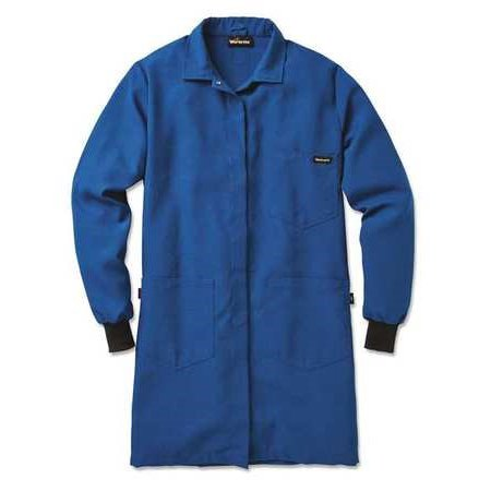WORKRITE FR Womens Flame-Resistant Lab Coat,Blue,L, 361NX45RBLG 00