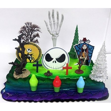 Phenomenal Nightmare Before Christmas Birthday Cake Topper Set Featuring Funny Birthday Cards Online Hendilapandamsfinfo