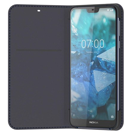 Nokia 7.1 Flip Cover - Official Nokia Accessory - Blue