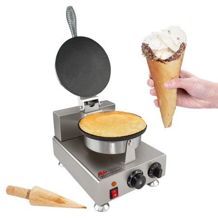 Nonstick Electric Egg Biscuit Roll Maker Machine Bake Machine Baker Pastry Making Baking Tools Electric Egg Roll Ice Cream Cone Maker (Ice Cream (plain)