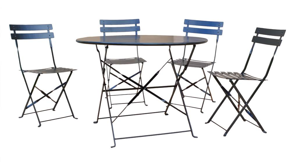 5-Pc Bistro Set in Onyx Black by Carolina Chair and Table Company