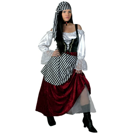 Plus Size Deluxe Pirate Wench Costume (Pirate Wench)