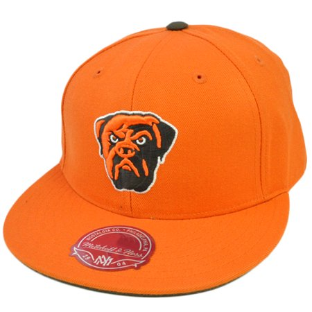 NFL Mitchell & Ness Throwback Logo Hat Cap Fitted TK42 Cincinnati Browns Size 7