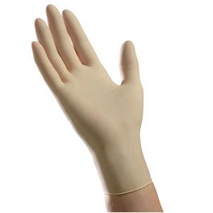 Ambitex Latex Exam Glove  XL, Cream, Elastic Rubber, 9'' L, 5 mil Thickness, Powder-Free Box of (Medline Red Rubber Latex)