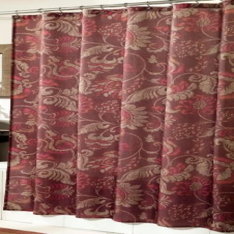 m.style MS8102-PURP Lorelei Shower Curtain