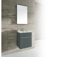 Dawn USA Qubo 16'' Single Bathroom Vanity with Mirror