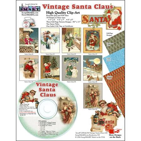 ScrapSMART Vintage Santa Claus CD-ROM, Clip-Art Images for Scrapbook, Craft, Sewing